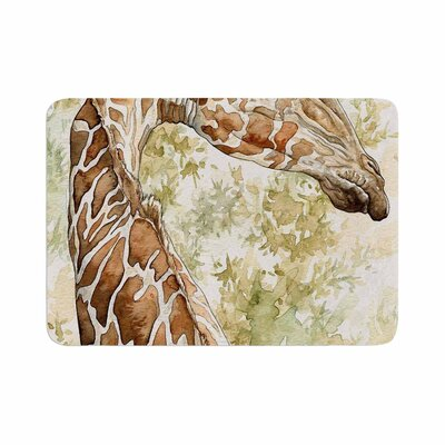 Wildlife Africa 2 Animals Memory Foam Bath Rug Size: 0.5 H x 17 W x 24 D