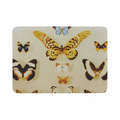 The Butterfly Collection Photography Memory Foam Bath Rug Size: 0.5 H x 17 W x 24 D