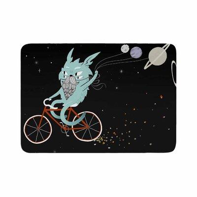 Anya Volk Bunny in Space Fantasy Memory Foam Bath Rug Size: 0.5 H x 17 W x 24 D