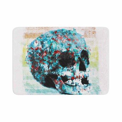 Frederic Levy Hadida Floral Skully 2 Coral Memory Foam Bath Rug Size: 0.5 H x 17 W x 24 D