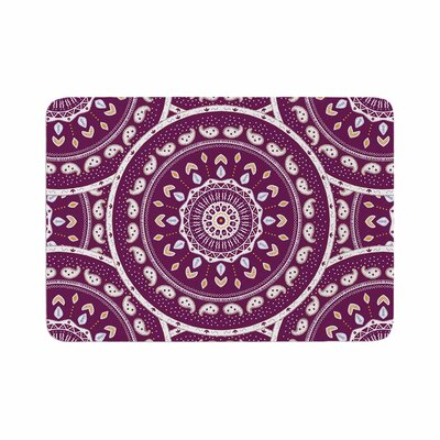 Cristina Bianco Design Mandala Design Abstract Memory Foam Bath Rug Size: 0.5 H x 24 W x 36 D