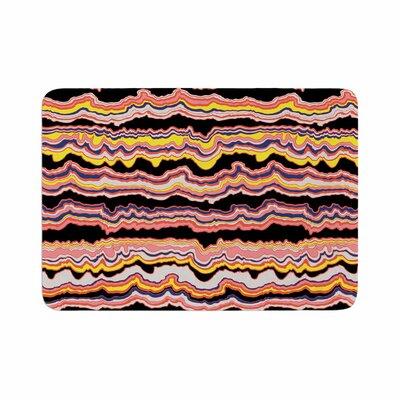 DLKG Design Expressive Lines Illustration Memory Foam Bath Rug Size: 0.5 H x 17 W x 24 D