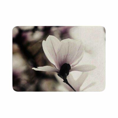 Vanilla Magnolia Floral Memory Foam Bath Rug Size: 0.5 H x 17 W x 24 D