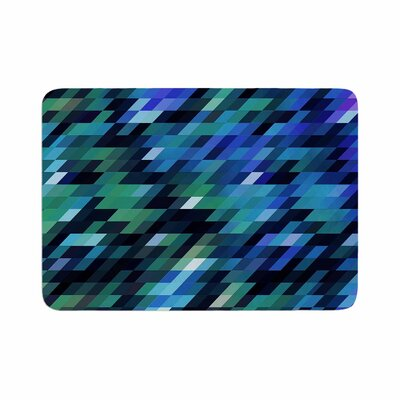 Dawid Roc Geometric City Digital Memory Foam Bath Rug Size: 0.5 H x 24 W x 36 D