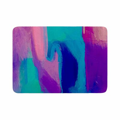 Geordanna Fields Deveraja Abstract Memory Foam Bath Rug Size: 0.5 H x 17 W x 24 D