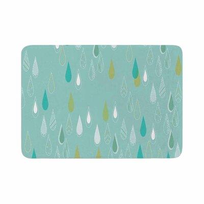 Bridgette Burton Feathered Rain Memory Foam Bath Rug Size: 0.5 H x 17 W x 24 D