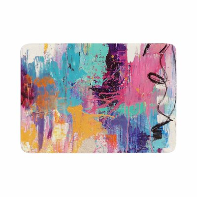 Geordanna Fields the Life after Abstract Memory Foam Bath Rug Size: 0.5 H x 24 W x 36 D