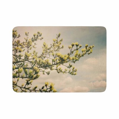 Angie Turner Magnolias Photography Memory Foam Bath Rug Size: 0.5 H x 17 W x 24 D