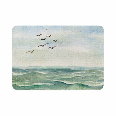 Cyndi Steen Flock Flying Low Coastal Memory Foam Bath Rug Size: 0.5 H x 17 W x 24 D