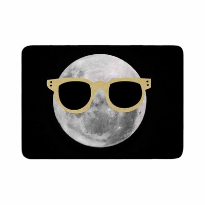 Mr. Moon Illustration Memory Foam Bath Rug Size: 0.5 H x 24 W x 36 D