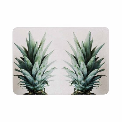 Two Pineapples Memory Foam Bath Rug Size: 0.5 H x 24 W x 36 D