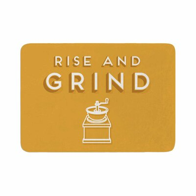 Busy Bree Rise and Grind Illustration Memory Foam Bath Rug Size: 0.5 H x 24 W x 36 D