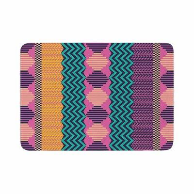 Akwaflorell Knitted Pattern Memory Foam Bath Rug Size: 0.5 H x 17 W x 24 D