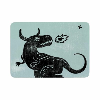 Anya Volk Fire Monster Illustration Memory Foam Bath Rug Size: 0.5 H x 17 W x 24 D