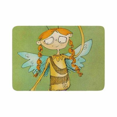 Carina Povarchik Urban Fairy Girl Kids Memory Foam Bath Rug Size: 0.5 H x 17 W x 24 D