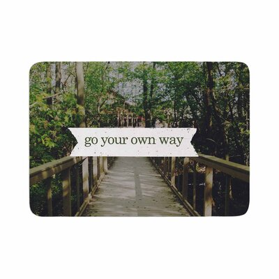 Go Your Own Way Memory Foam Bath Rug Size: 0.5 H x 17 W x 24 D