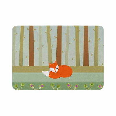 Cristina Bianco Design Sleeping Fox Illustration Memory Foam Bath Rug Size: 0.5 H x 24 W x 36 D