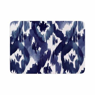 Crystal Walen Indigo Ikat Diamond Memory Foam Bath Rug Size: 0.5 H x 17 W x 24 D