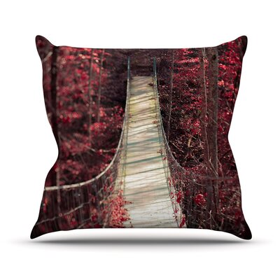 Enchant by Ann Barnes Bridge Cotton Blend Throw Pillow Size: 26 H x 26 W x 1 D