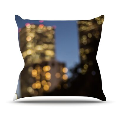 NOLA at Night by Ann Barnes City Lights Cotton Blend Throw Pillow Size: 18 H x 18 W x 1 D
