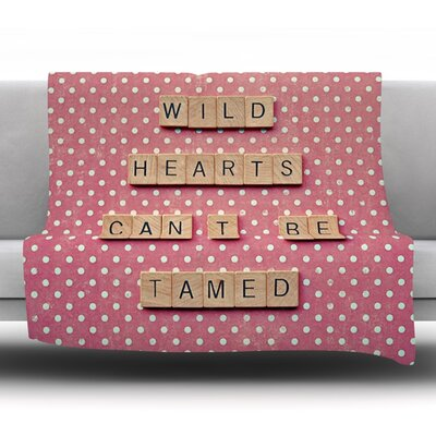 Wild Hearts Cant Be Tamed by Nastasia Cook Fleece Blanket Size: 80 L x 60 W x 1 D