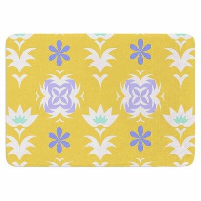 Alison Coxon Edwardian Tile Memory Foam Bath Rug Color: Yellow/White