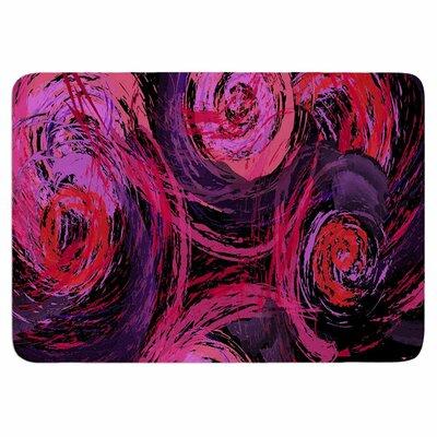 Alison Coxon Sophia Memory Foam Bath Rug Color: Pink/Black