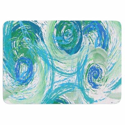 Alison Coxon Sophia Memory Foam Bath Rug Color: Green/Blue