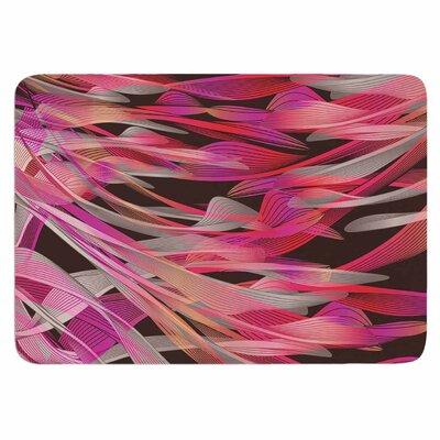 Angelo Cerantola Tropical Electric Memory Foam Bath Rug Color: Pink/Black