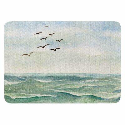 Cyndi Steen Flock Flying Low Memory Foam Bath Rug