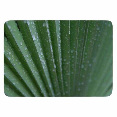 Cyndi Steen Green Palm Frond Memory Foam Bath Rug