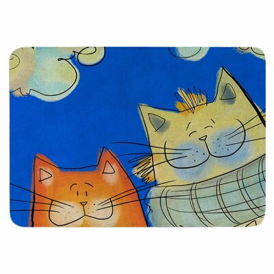Carina Povarchik Happy Cats in the City Memory Foam Bath Rug