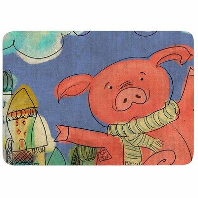 Carina Povarchik Happy Urban Pig Memory Foam Bath Rug