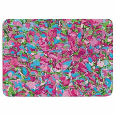 Empire Ruhl Abstract Spring Petals Memory Foam Bath Rug