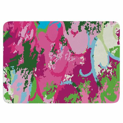 Empire Ruhl Spring Frolic Abstract Memory Foam Bath Rug