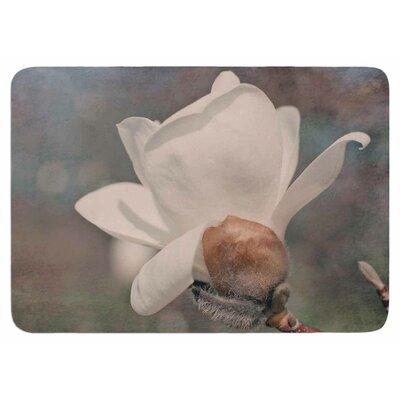 Angie Turner White Magnolia Memory Foam Bath Rug