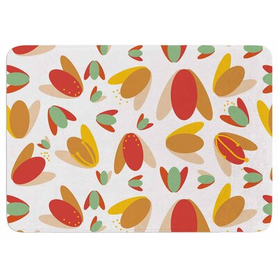 Love Midge 70s Retro Floral Memory Foam Bath Rug