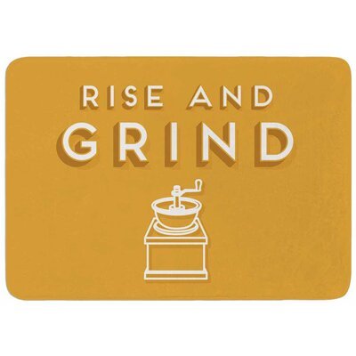 Busy Bree Rise and Grind Memory Foam Bath Rug