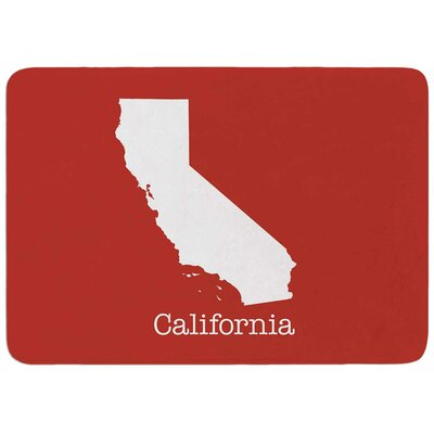 Bruce Stanfield California State on Golden Red Memory Foam Bath Rug