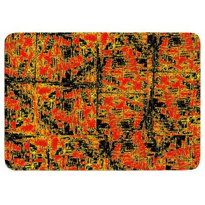 Bruce Stanfield Golden Red Memory Foam Bath Rug
