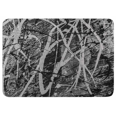 Bruce Stanfield Verness in Grayscale Memory Foam Bath Rug
