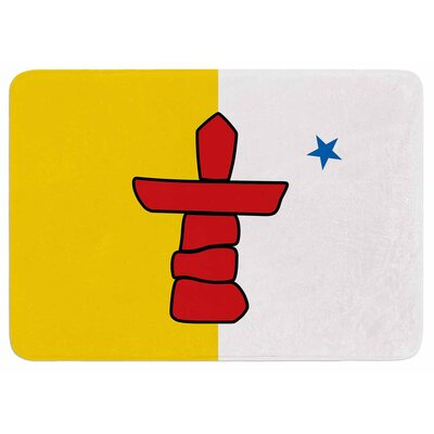 Bruce Stanfield Flag of Nunavut Memory Foam Bath Rug
