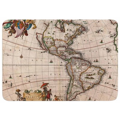 Bruce Stanfield Vintage Map of the Americas Memory Foam Bath Rug