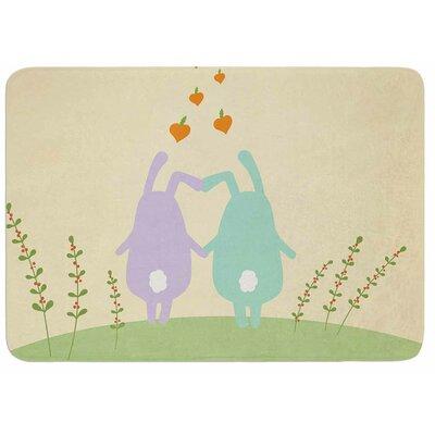 Cristina Bianco Design Cute Bunnies Memory Foam Bath Rug