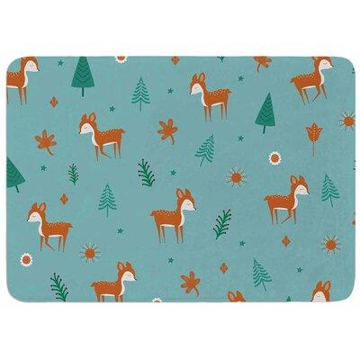 Cristina Bianco Design Cute Deer Pattern Memory Foam Bath Rug