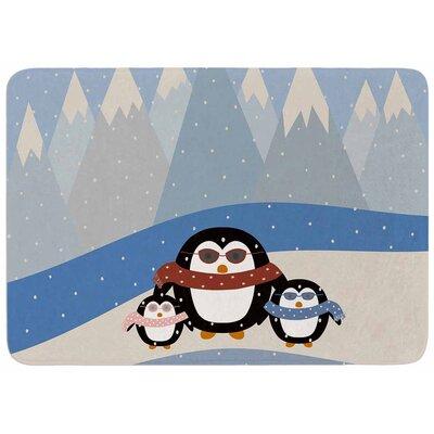 Cristina Bianco Design Cute Penguins Memory Foam Bath Rug