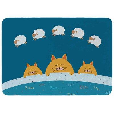 Cristina Bianco Design Sleeping Cats Zzzz Memory Foam Bath Rug
