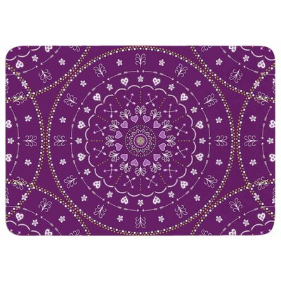 Cristina Bianco Design Purple Mandalas Memory Foam Bath Rug