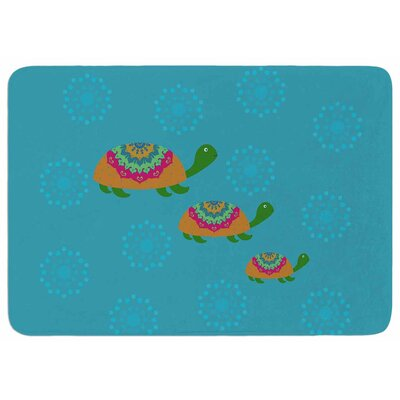 Cristina Bianco Design The Turtles Memory Foam Bath Rug