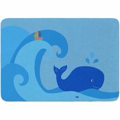 Cristina Bianco Design Blue Whale Memory Foam Bath Rug